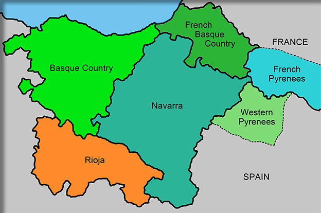 Basque France Map.General Area Map